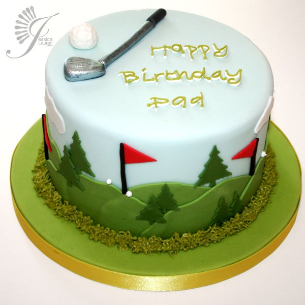 Terrific Kids Birthday Cakes London Berkhamsted With Images Golf Birthday Cards Printable Trancafe Filternl