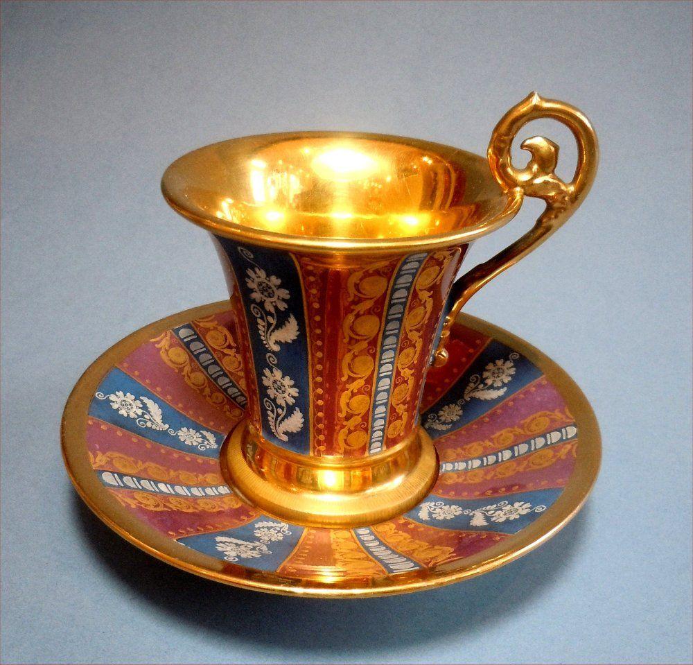 Paris chocolate cup and saucer