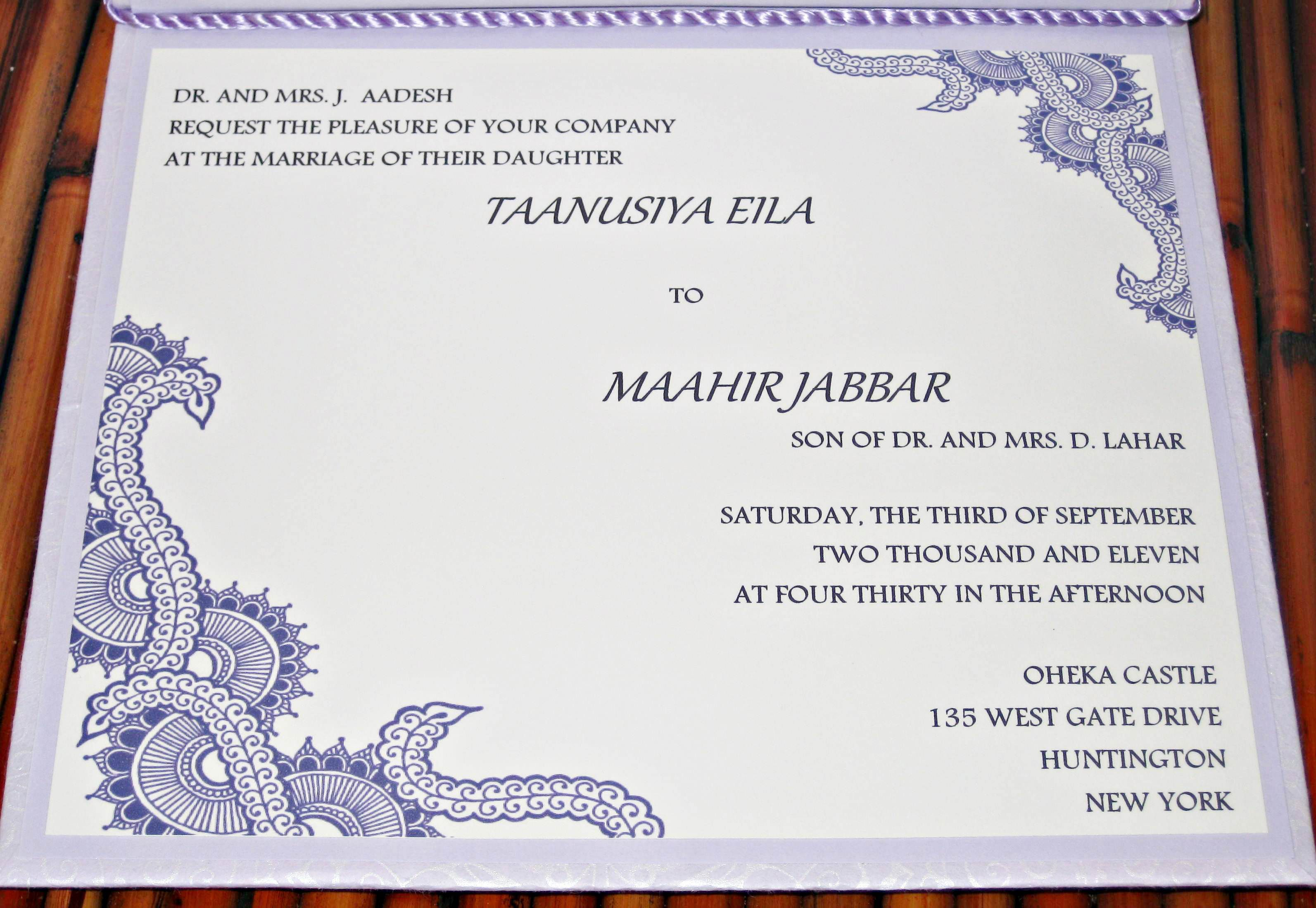 Samples Of Wedding Invitation Cards - Invitation Templates ...