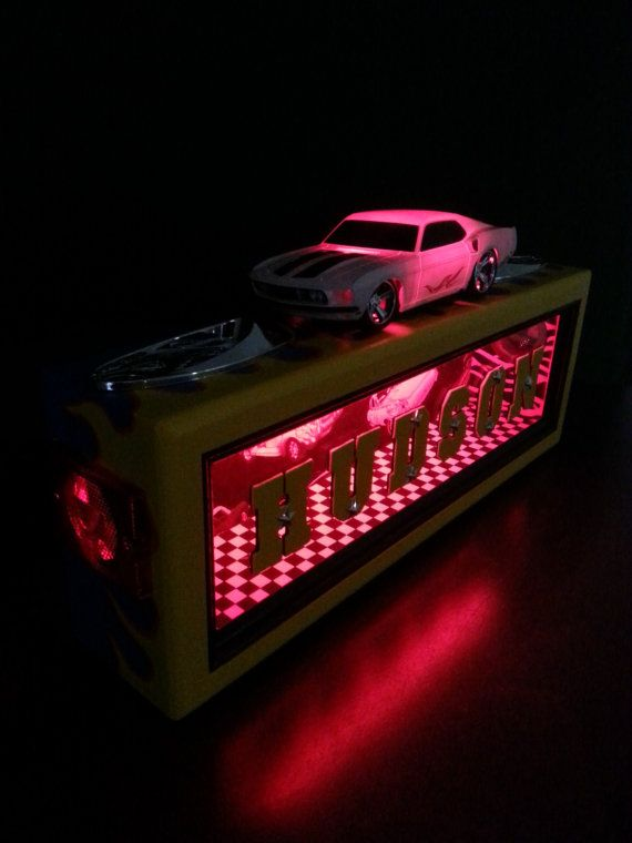 Personalized Night Light Classic car by CustomNightLightsLED