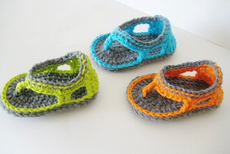 Baby Bootie Patterns Trekkers Crochet Pattern Flip Flop Sandals