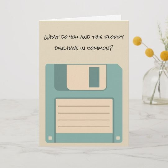 Funny Floppy Computer Disk Retirement Card Zazzle Com In 2021 Retirement Cards Retirement Cards Handmade Funny Retirement Cards