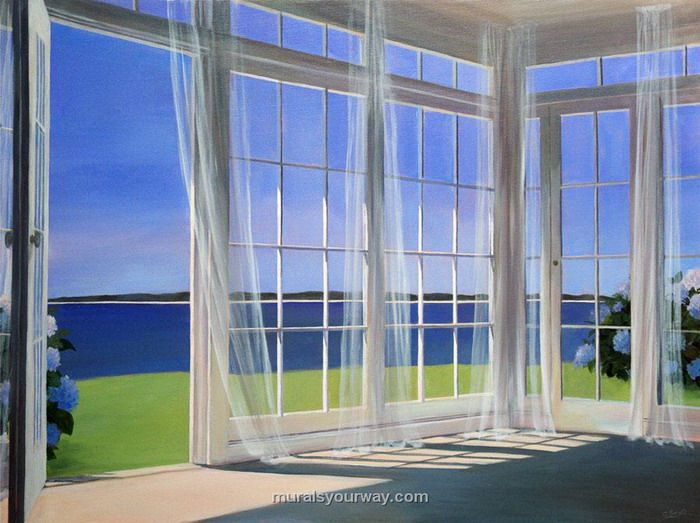 Home Decor With Window Wall Mural