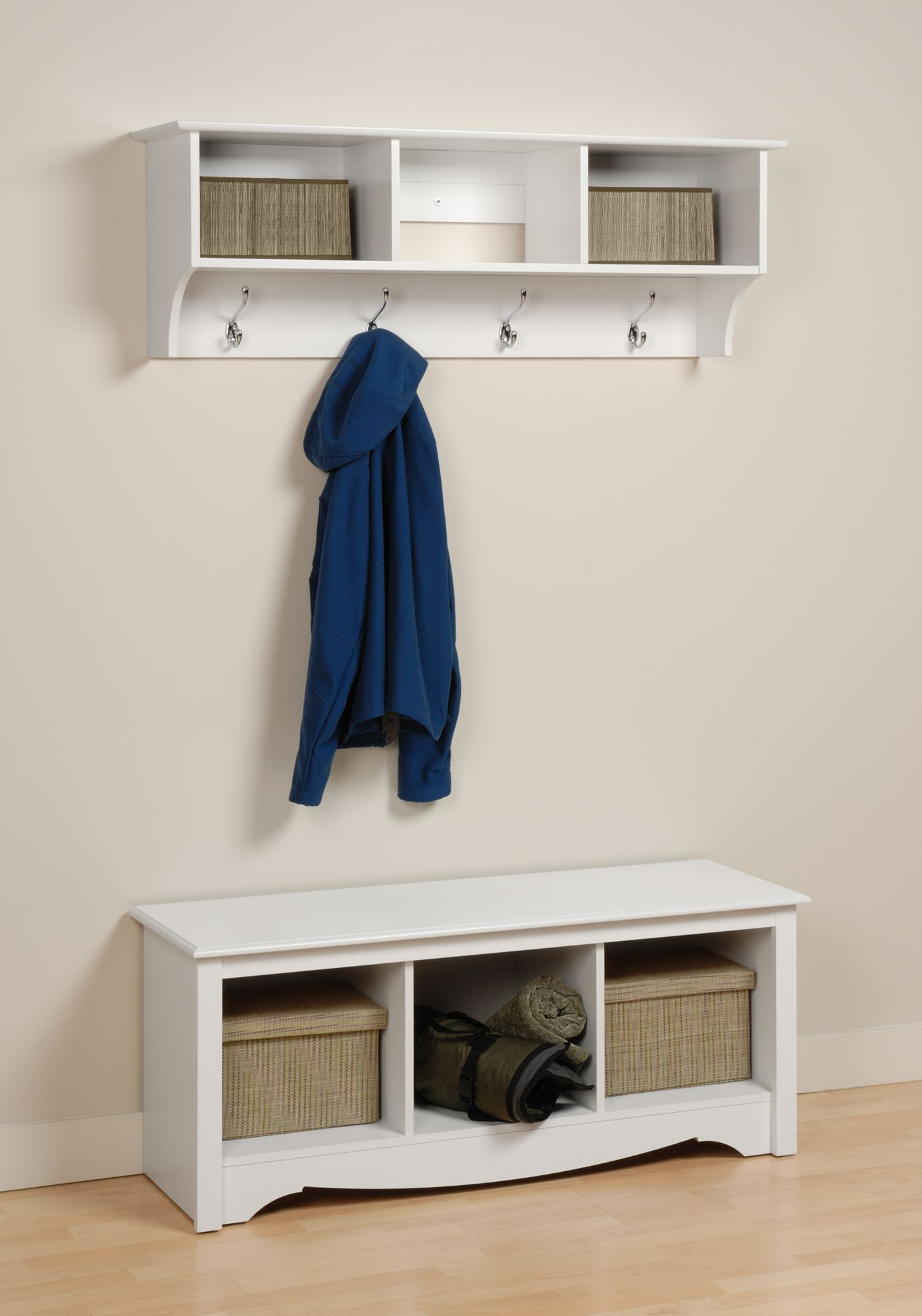 Shelves White Walls And Entry Ways: Entryway Cubby Shelf, Diy Coat Rack, Entryway Wall Shelf