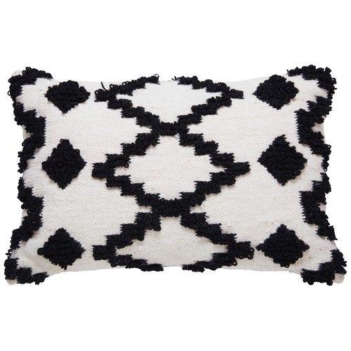 coussin ethnique noir et blanc graphique mexico maisons du monde ma chambre cosy parfaite. Black Bedroom Furniture Sets. Home Design Ideas