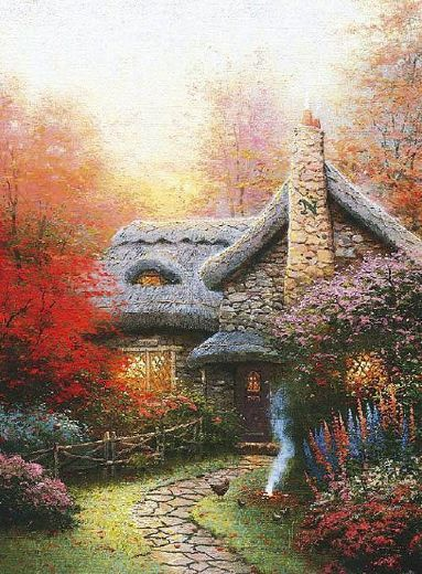 There is even an N on the chimney for my last name. Thank you Thomas Kinkade!