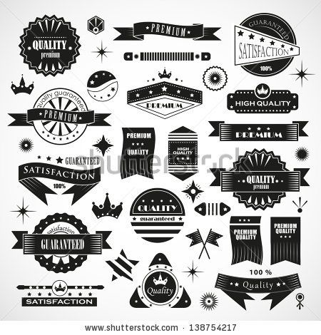 Vintage Design Elements Labels In Retro And Vintage Style Isolated On Background Vector Illustration Gra Design Elements Vintage Designs Vector Illustration