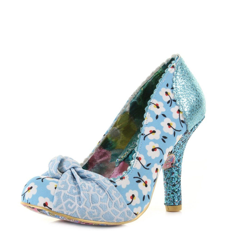 Irregular Choice Smartie Pants Blue Hi Heels Amazon Co Uk Shoes
