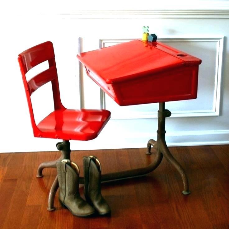 Vintage School Desks Kid Metal Chair Size Folding Chairs