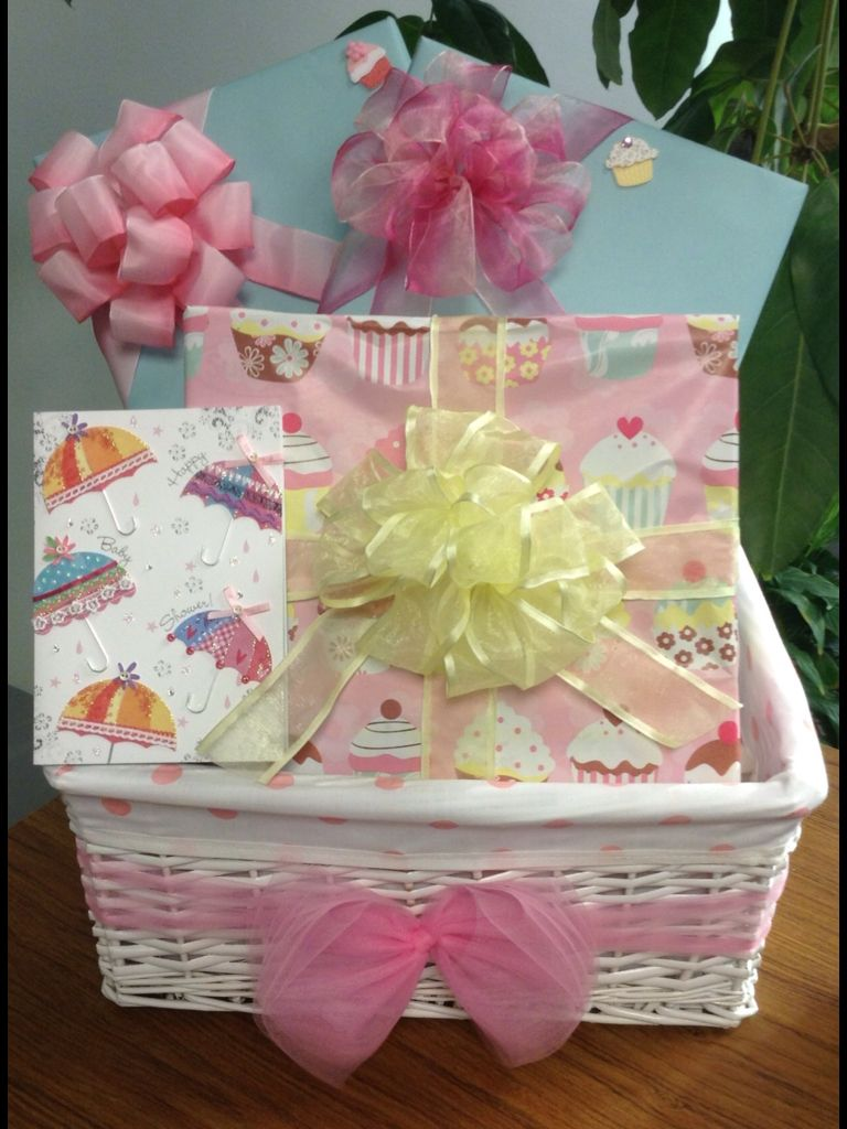 Baby Shower Gift Basket Gift Wrapping Ideas For Baby Girl
