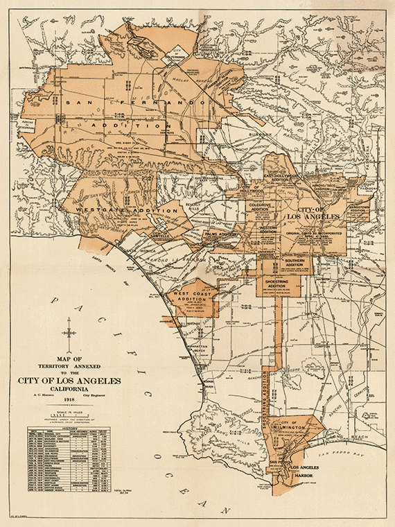 Los Angeles map print map vintage old maps Antique map poster map