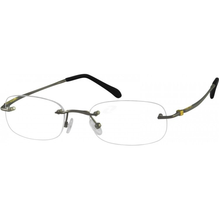 A rimless, pure titanium, very light and flexible frame. This frame ...