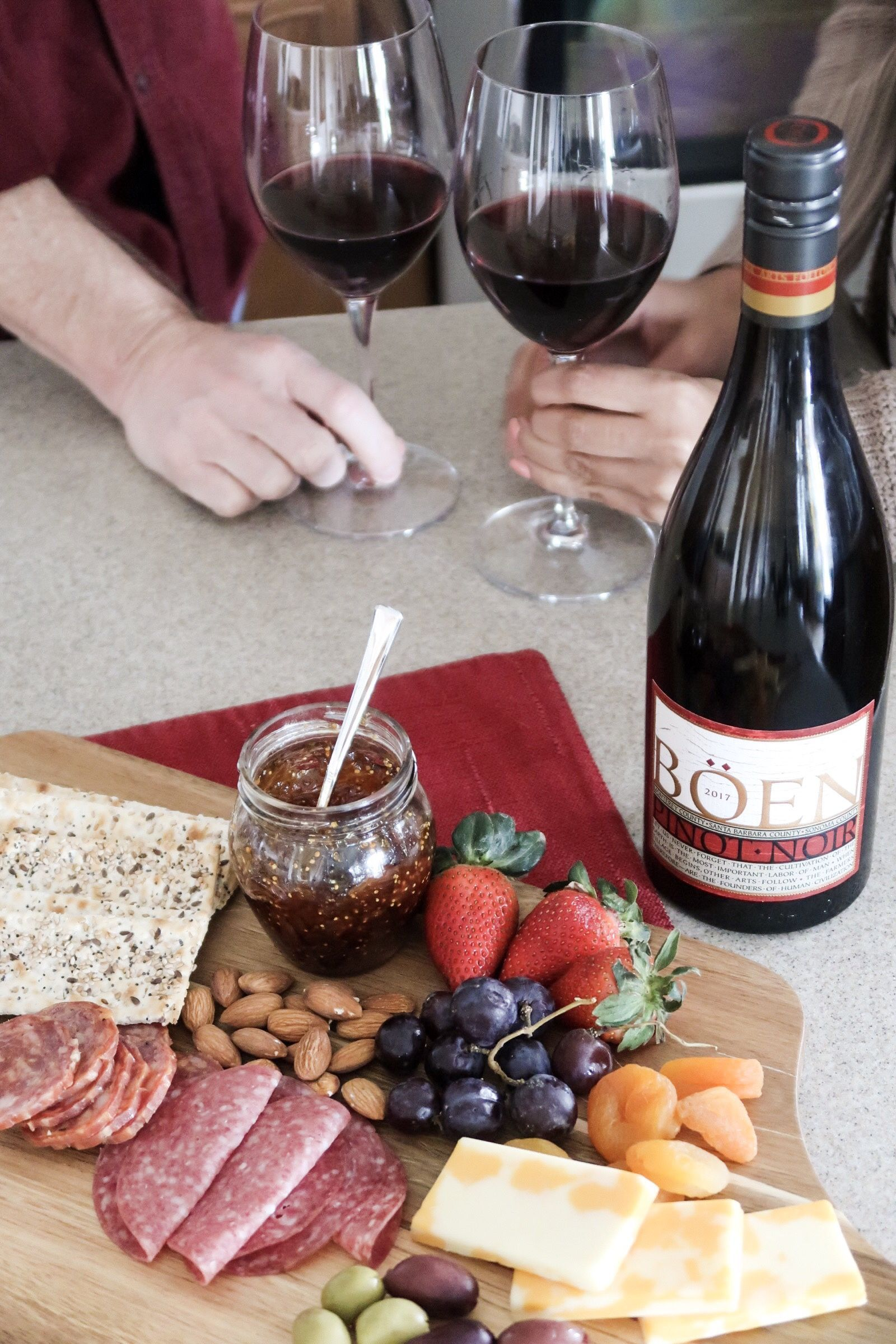 Effortless And Easy Charcuterie Board To Go Along With Your Wine Cheese Board Charcuterie Board Charcuterie Different Recipes