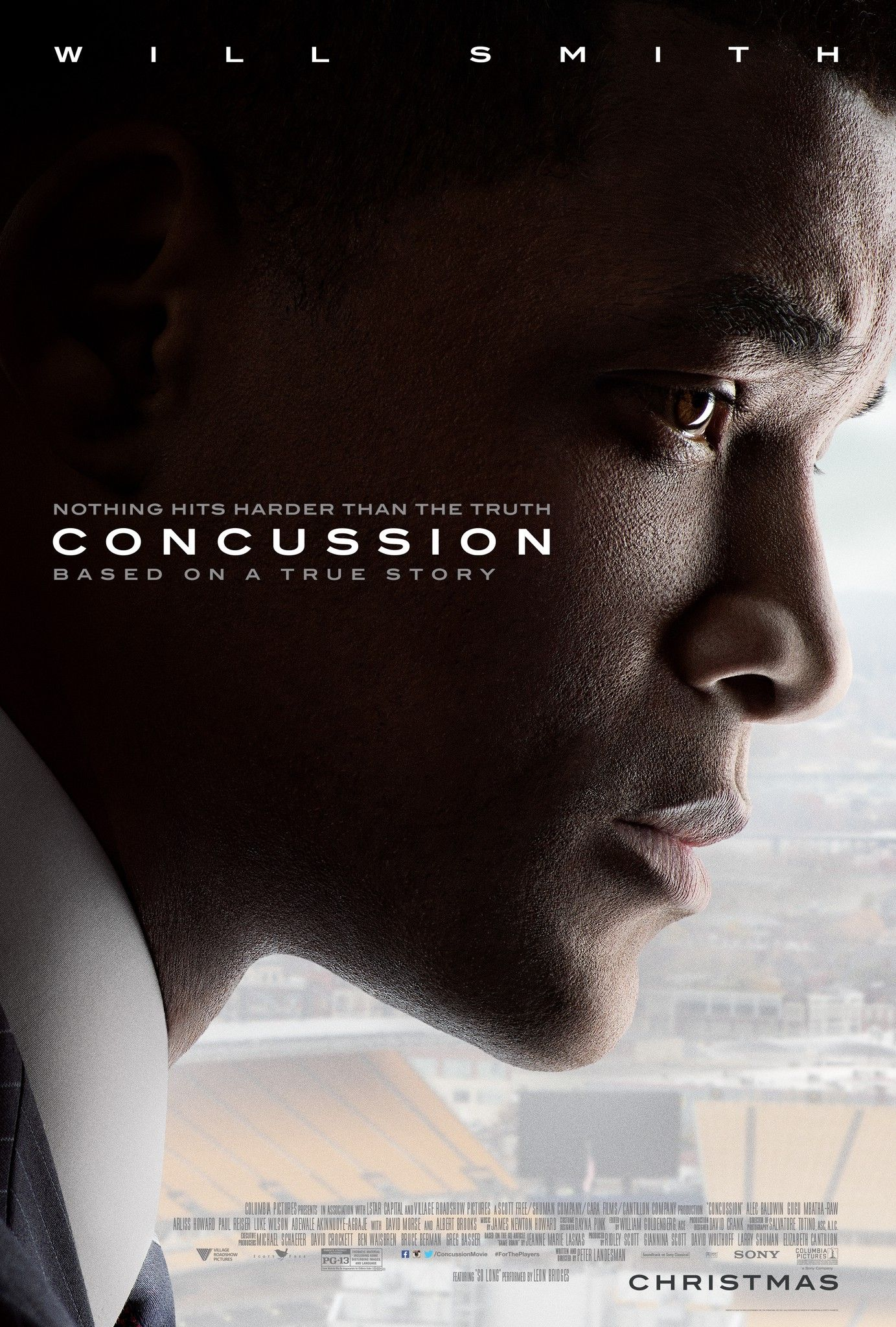 New Poster For Concussion In Which Will Smith Portrays The Doctor