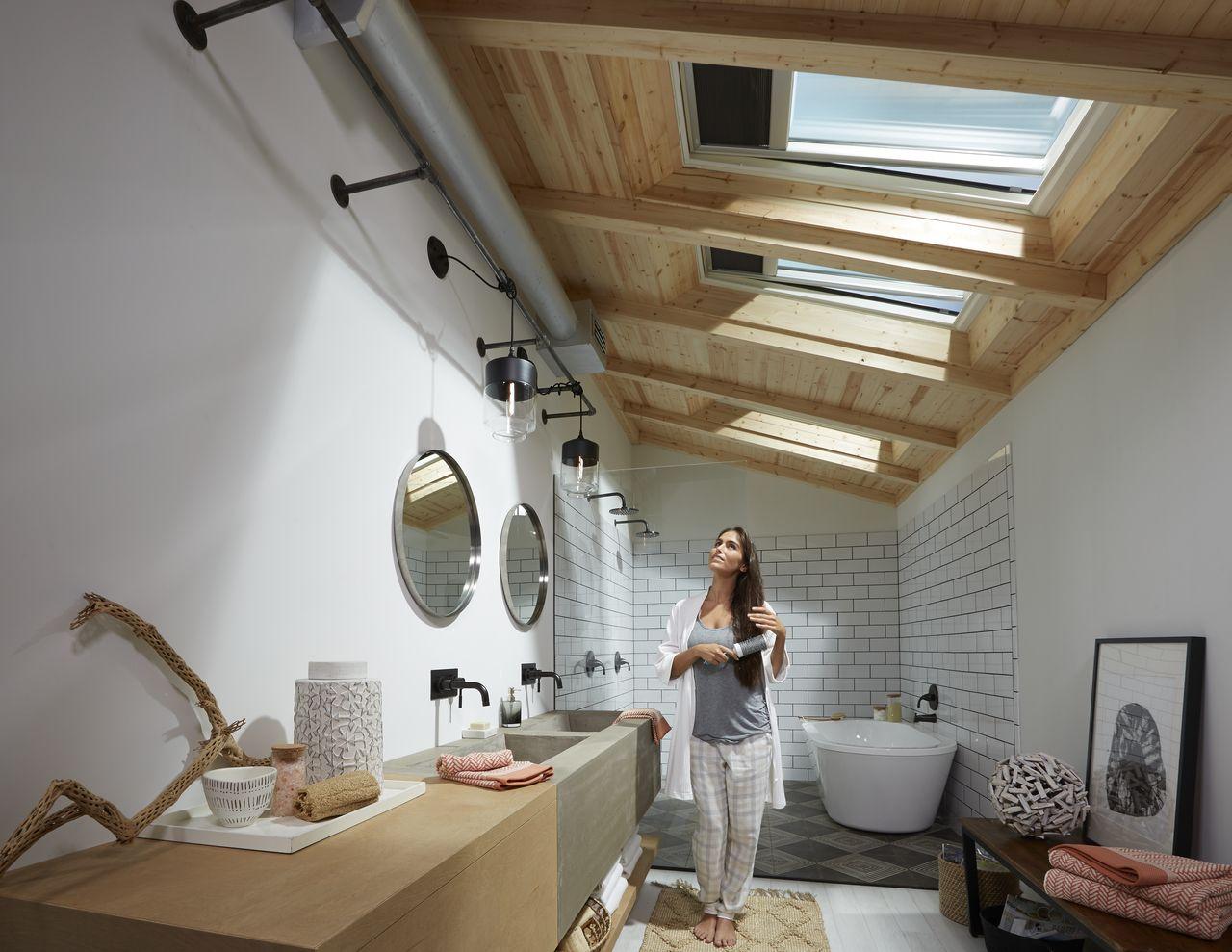 Toilette Unter Dachflachenfenster Dachflachenfenster Badezimmer Dachschrage Dachfenster