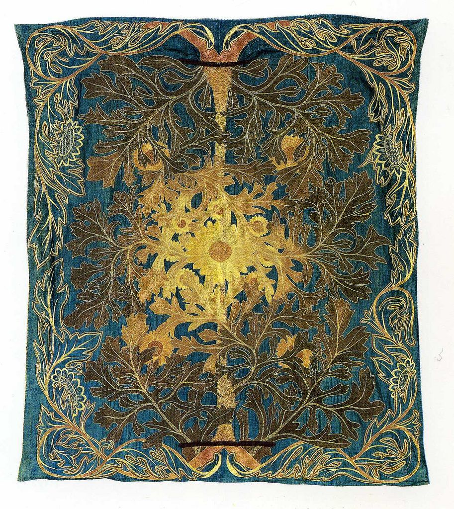 William Morris Rugs Reproductions: Textile Design For A Bedcover