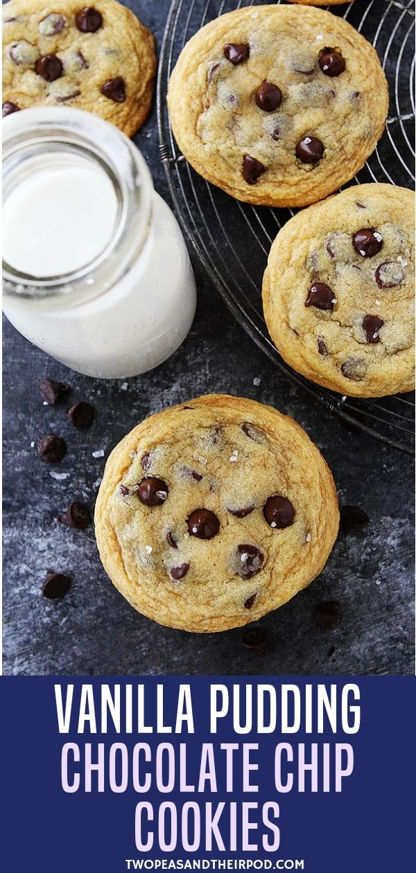 Vanilla Pudding Chocolate Chip Cookies #chocolatechipcookies