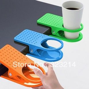 glass clip cup holder big clip kitchen dining table, useful and novelty.