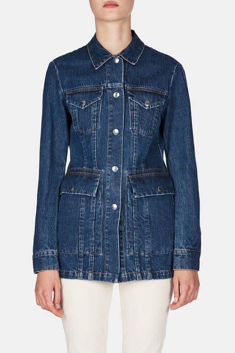8d55240f Gwen Jacket - Natural Blue Vintage | Jackets and Coats | Denim coat ...