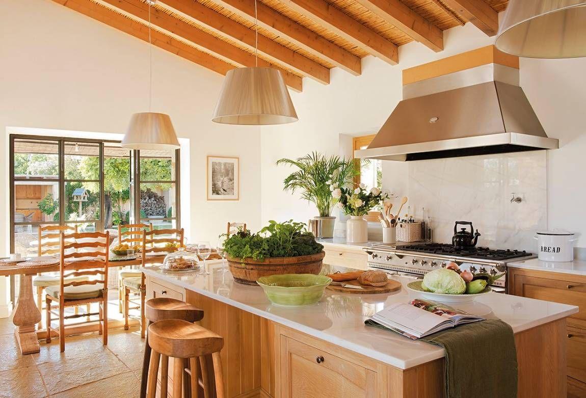 Imagen ambientes pinterest vigas de madera cocinas for Vigas de decoracion