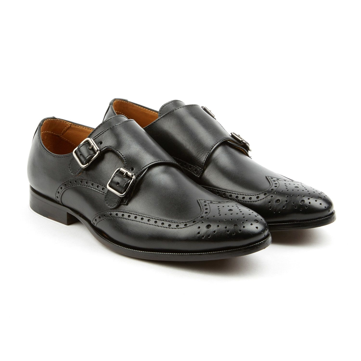 The Straight Double Monk Strap // Black #Double, #Straight