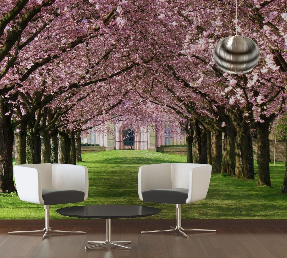 rosa bl ten wei e wiese fototapeten natur livingwalls. Black Bedroom Furniture Sets. Home Design Ideas