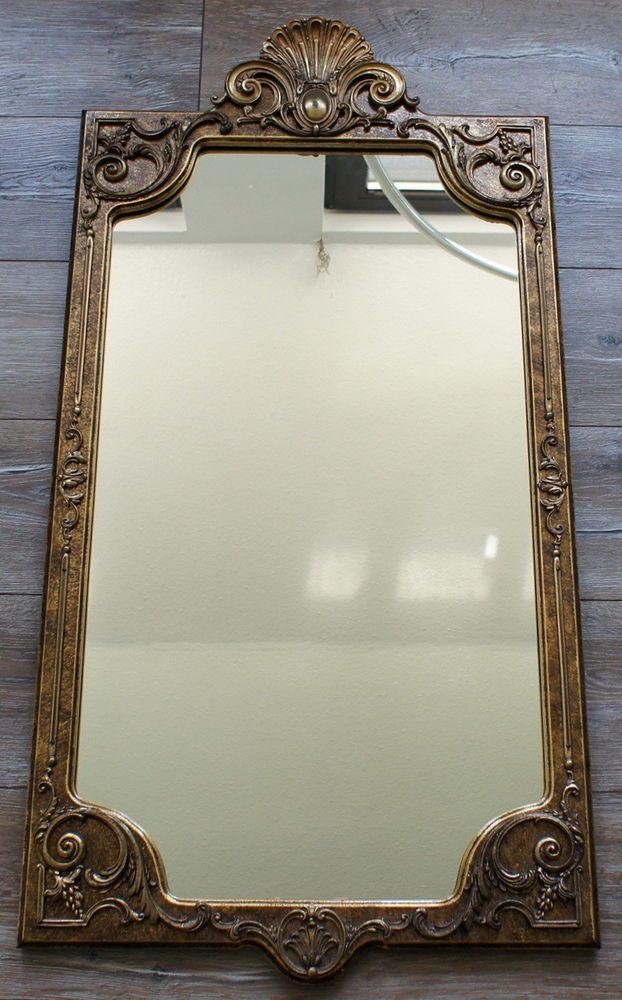 Alter Spiegel Bilderrahmen Stil alt antik shabby barock 55 x 107 cm ...