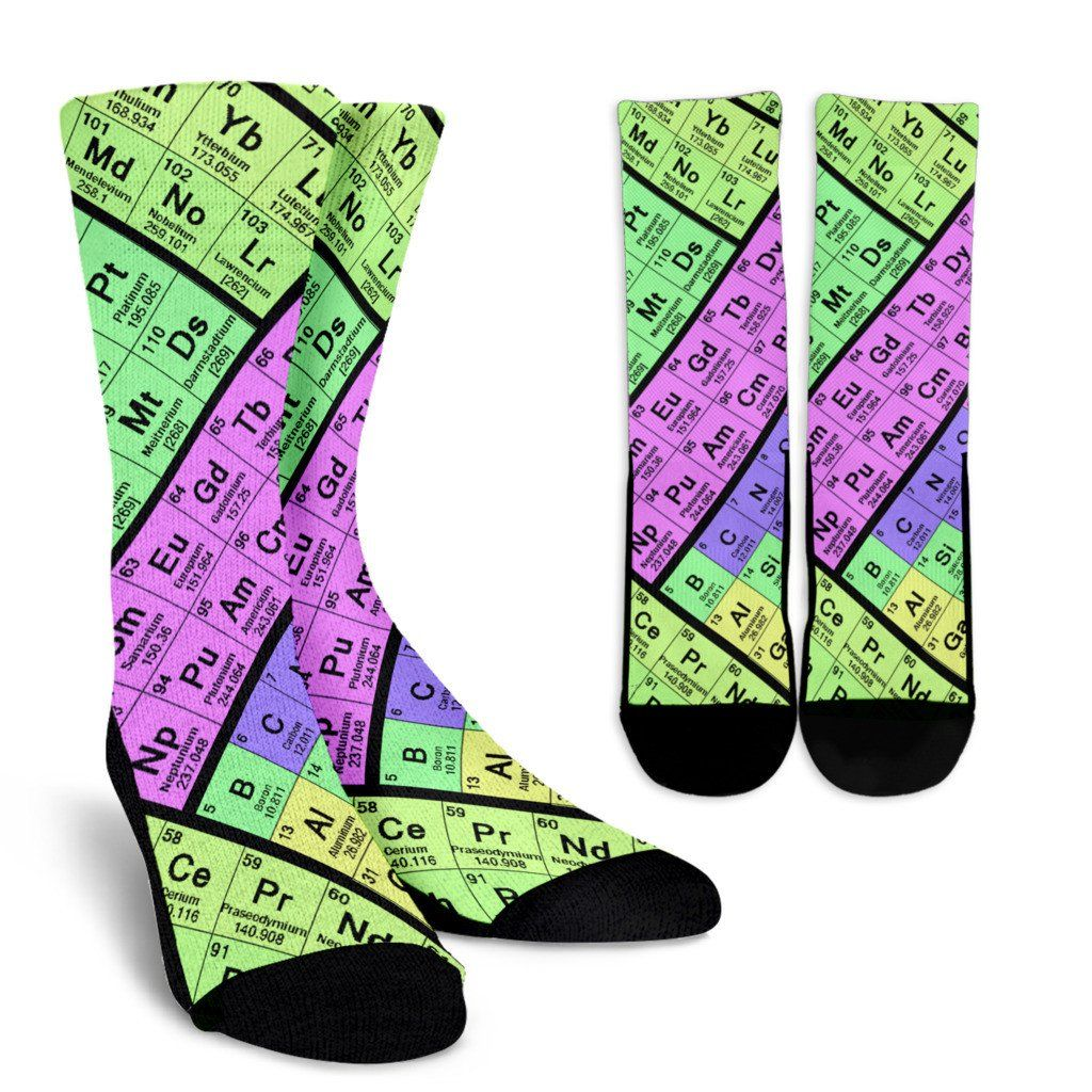 Periodic Table Socks In