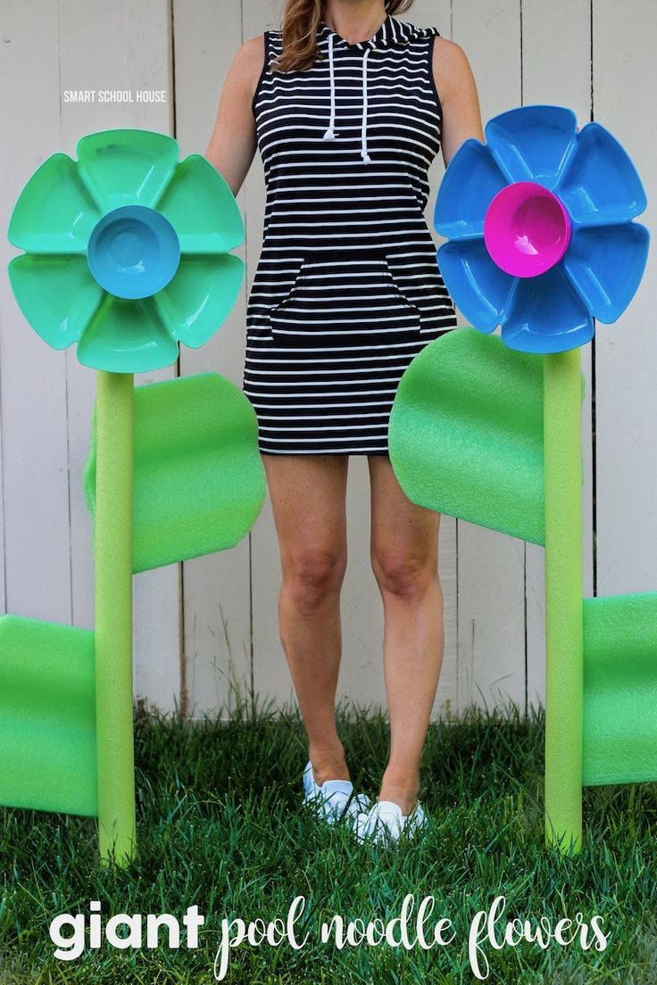 Giant Pool Noodle Flowers Want Need Love Pool