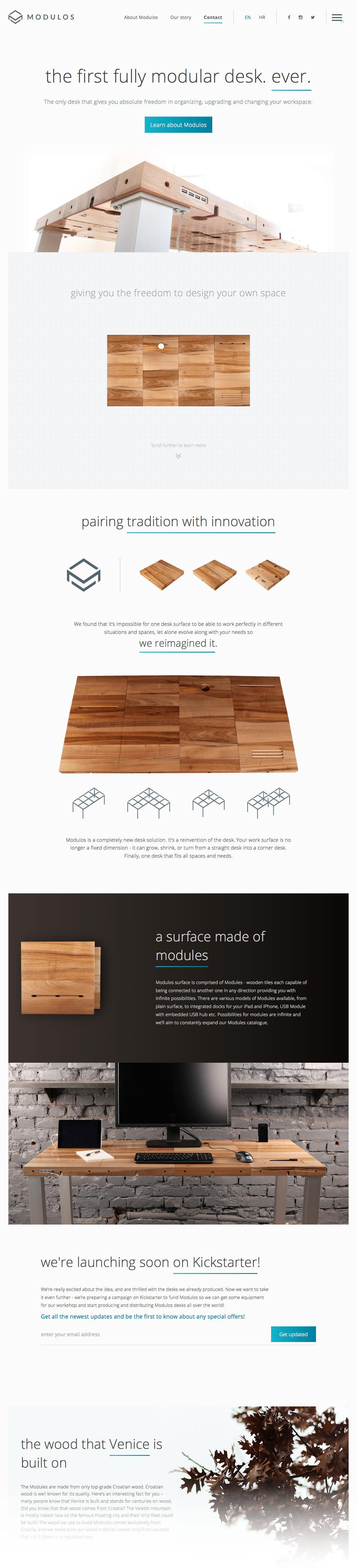 Modulos Desk (More web design inspiration at topdesigninspiration.com) #design #web #webdesign #sitedesign #responsive #ux #ui