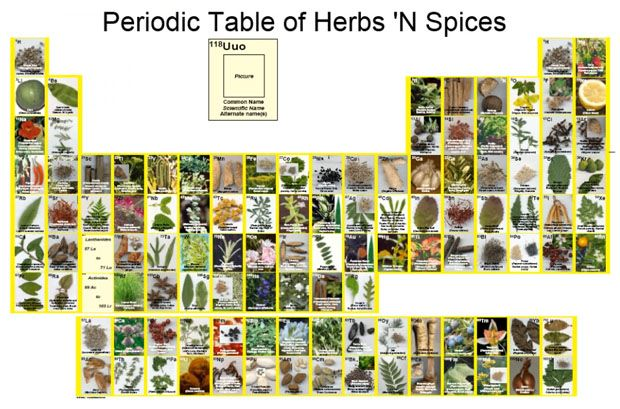 herbs table chart pdf Herbs Pinterest Periodic table, Herbs - copy la tabla periodica moderna pdf