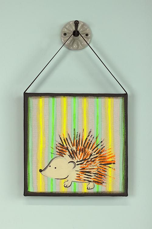 Porcupine Fork Art Wall Decor -- Use a plastic fork to make this ...