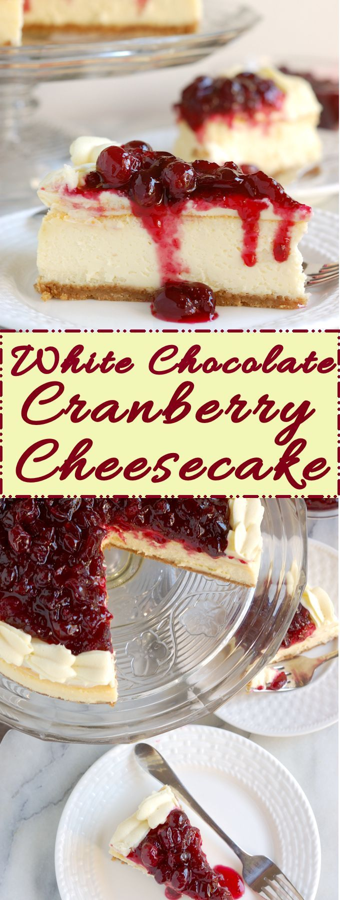 White Chocolate Cranberry Cheesecake Recipe Desserts Cranberry Recipes Chocolate Cranberry Cheesecake