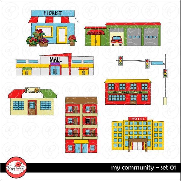 My Community 01 by Poppydreamz | Mygrafico Illustrations ...