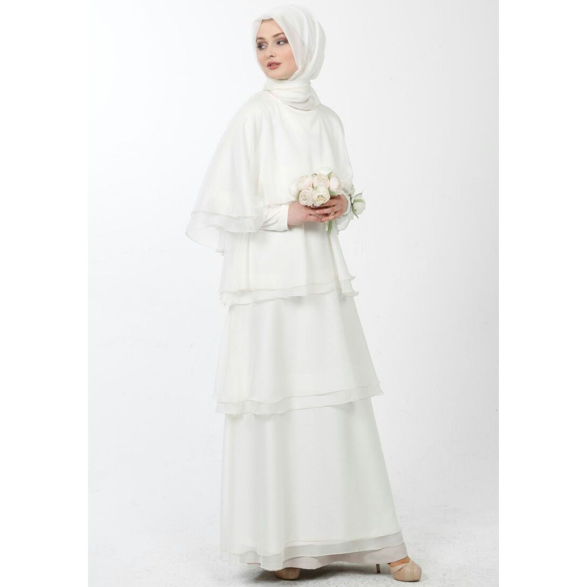 Tesettur Kat Kat Beyaz Elbise Modelleri Elbise Modelleri Elbise The Dress