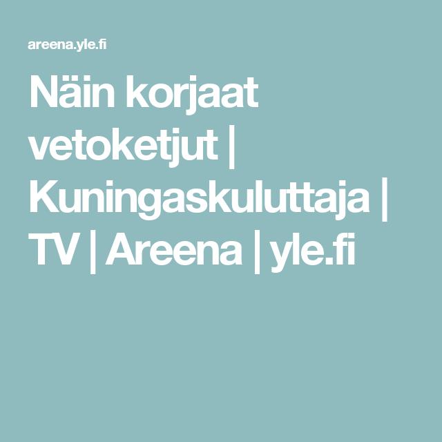 Näin korjaat vetoketjut | Kuningaskuluttaja | TV | Areena | yle.fi