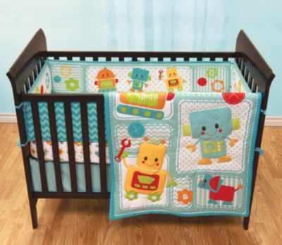 Baby S First Peek A Bot 3 Piece Crib Set Sears Sears Canada