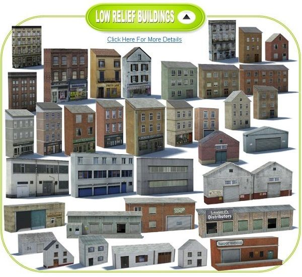 Downloadable Model Railway Buildings Usa
