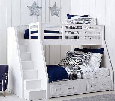 Belden Twin-Over-Full Stair Loft Bed #bambussichtschutz