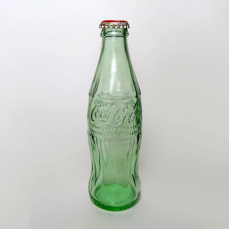 1994 Holiday Greetings Empty Coca Cola Bottle with Coke Classic Bottle Cap - BTCE061 - Empty vintage Coke bottle Vintage 1994 Holiday Greetings Empty Green Hobbleskirt Coca Cola Coke Bottle with Coke Classic Bottle Cap. No Refill