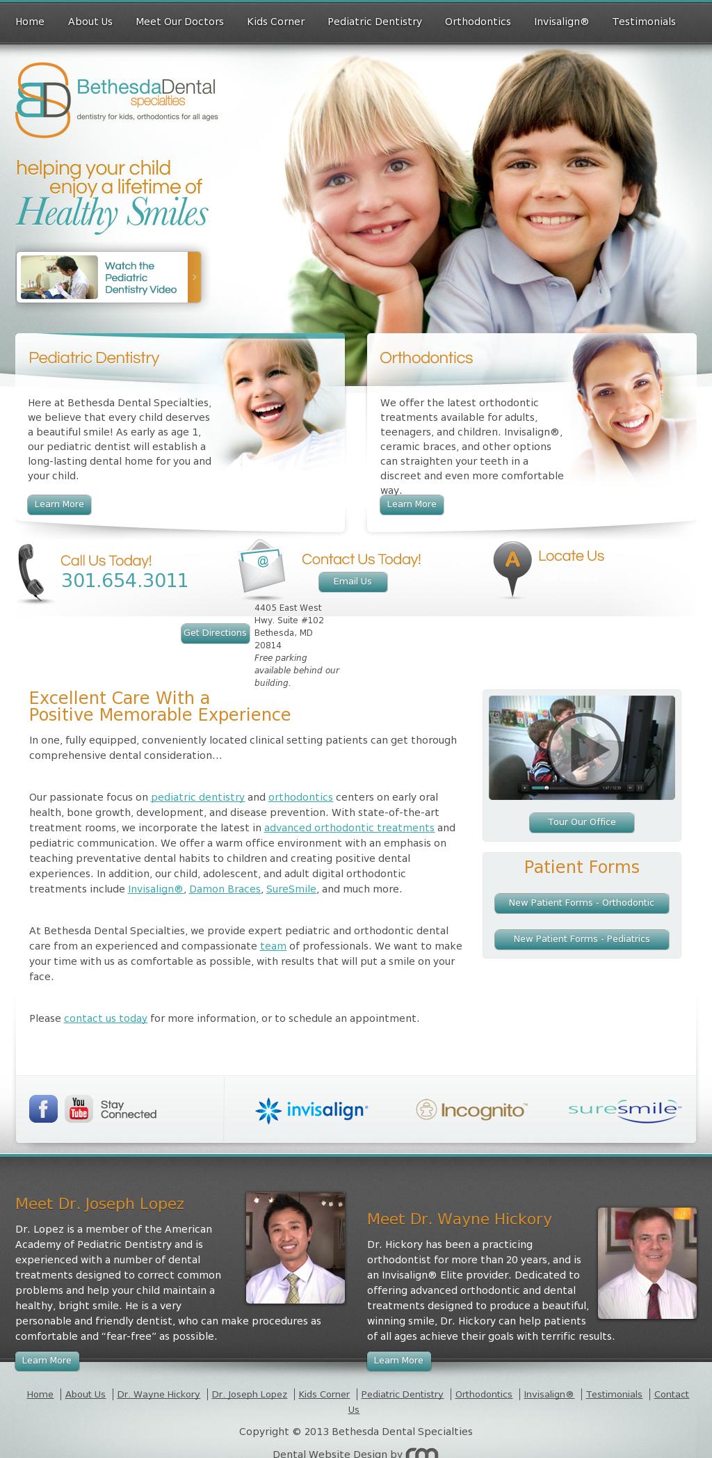 Pediatric Dentist Orthodontist Bethesda Potomac Md Medical Websites Dental Website Pediatric Dentistry