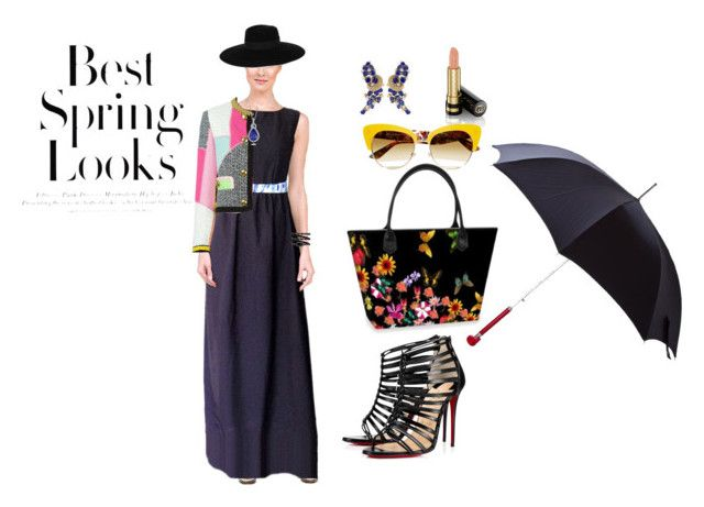"""BEST SPRING LOOKS"" by beryl-8189 ❤ liked on Polyvore featuring Christian Louboutin, Maison Michel, Chanel, Gucci, H&M, Dolce&Gabbana, Moschino, Blue Nile and Alexander McQueen"