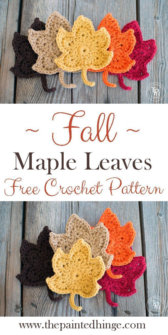 Fall Maple Leaves Free Crochet Pattern   Free crochet, Leaves and ...