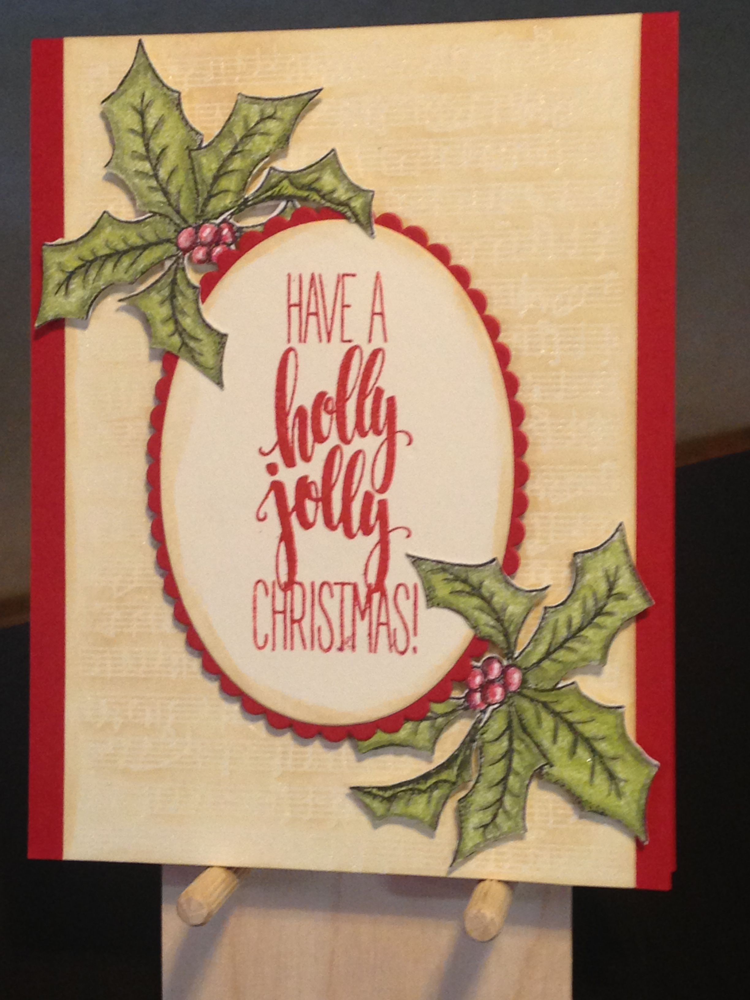 Christmas card gina k stamps dashing holly jolly music christmas card gina k stamps dashing holly jolly music background stampin up layering ovals thinlits paper strathmore colored pencil paper kristyandbryce Choice Image