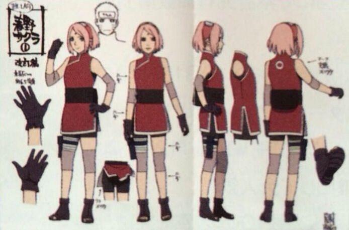 Naruto The Last Character Design Color : Imagen relacionada Дизайн pinterest naruto sakura
