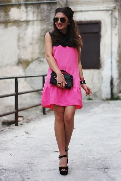 black and pink dress | My first LOVE...Black & Pink! | Pinterest ...