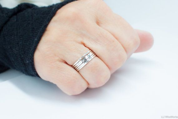 This beautiful set of stacking rings are made from solid sterling silver.