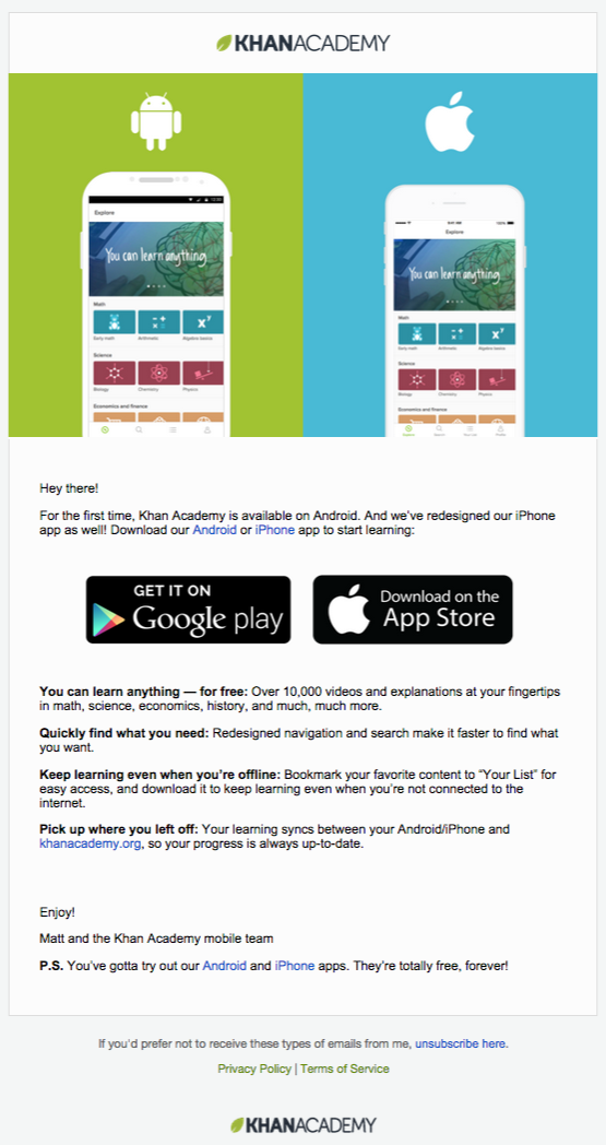 Khan Academy mobile app email (With images) App