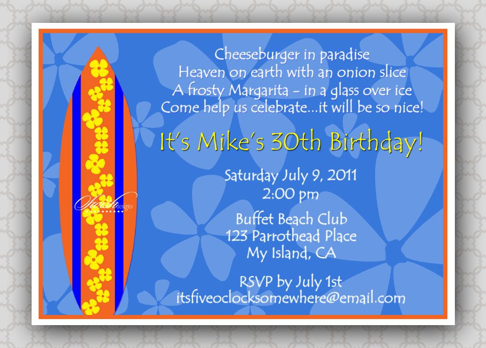 17 Best images about Hawaiian theme party – Hawaiian Party Invitation Wording