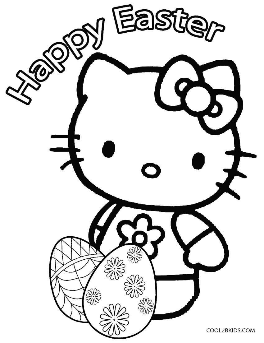 Easter Egg Coloring Pages (With images) Kitty coloring
